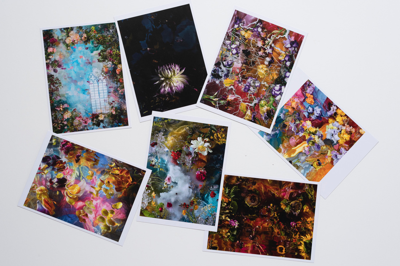 7 postcards 13 x 18 cm € 13,90 This set-price includes shipping within the Netherlands.  Outside NL:  € 14,80
